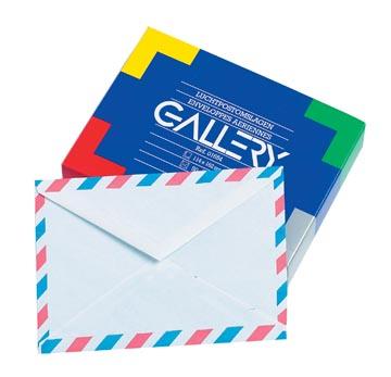 Gallery luchtpostenveloppen, ft 114 x 162 mm, gegomd, doos van 50 stuks