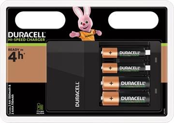 Duracell batterijlader Hi-Speed Value Charger, inclusief 2 AA en 2 AAA batterijen, op blister