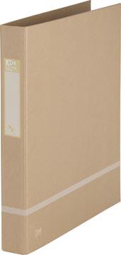 OXFORD Touareg ringmap, formaat A4, uit karton, rug van 3,5 cm, 2 D-ringen, zand