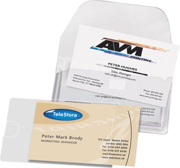 3L Business Card Pocket ft 105 x 60 mm, open aan de lange zijde (etui van 10 stuks)