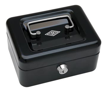Wedo geldkoffer, ft 12,5 x 11,5 x 8 cm, zwart