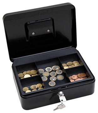 Wedo geldkoffer, ft 25 x 18 x 9 cm, zwart