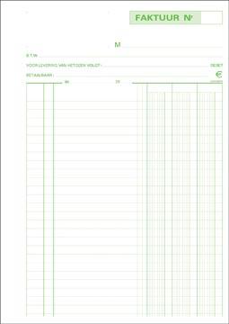 Exacompta facturen, ft 29,7 x 21 cm, dupli, verticaal, Nederlandstalig