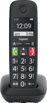 Gigaset E290 draadloze telefoon, grote toetsen, zwart