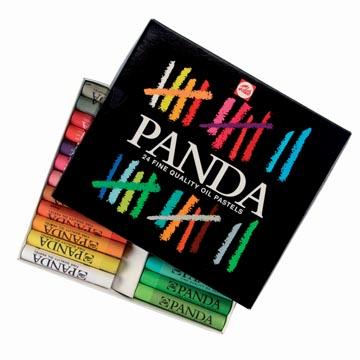 Talens Panda oliepastel, doos van 24 pastels