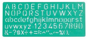 Linex lettersjabloon 10 mm
