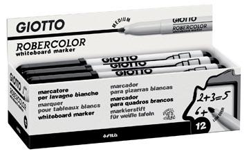 Giotto Robercolor whiteboardmarker, medium, ronde punt, zwart