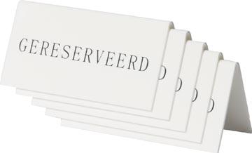 Securit tafelbordje 'Gereserveerd', pak met 5 stuks