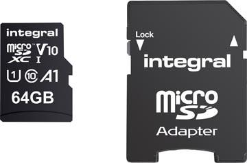 Integral microSDXC geheugenkaart, 64 GB