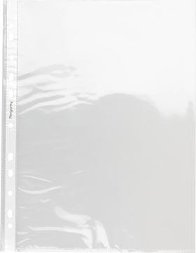 Pergamy geperforeerde showtas, ft A4, 11-gaatsperforatie, glasheldere PP van 60 micron, pak van 100 stuks