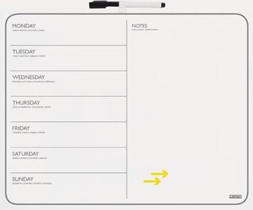 Desq magnetisch memoboard en weekplanner, ft 40 x 50 cm