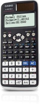 Casio wetenschappelijke rekenmachine FX-991DEX, Duitstalige versie