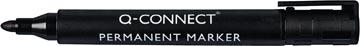 Q-Connect permanente marker, ronde punt, zwart