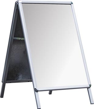 Deflecto stoepbord ft A1, uit aluminium